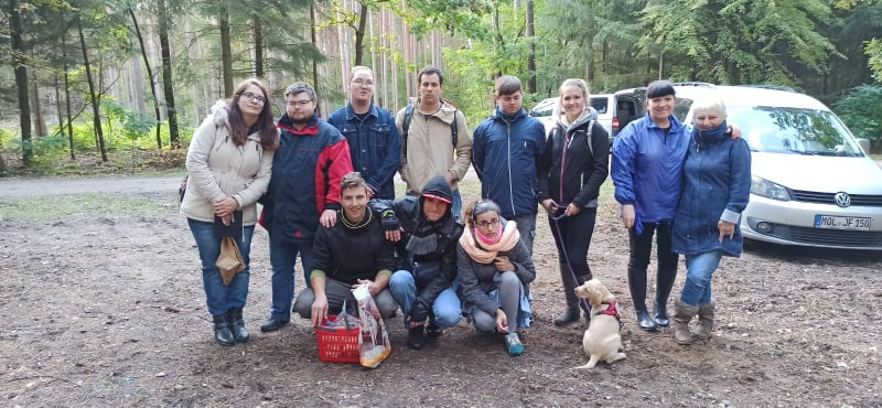 Treffen mit der polnischen Werkstatt zum Pilze-Sammeln