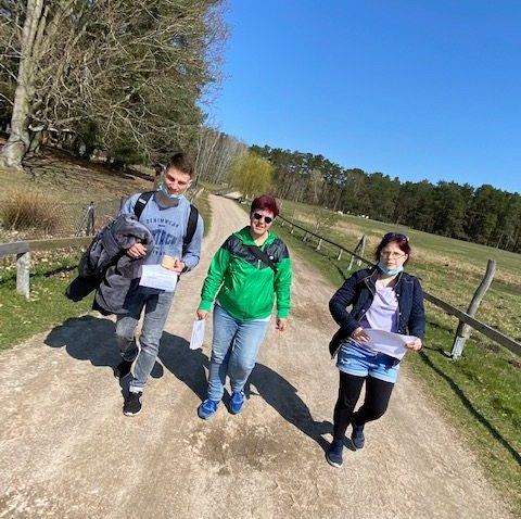Wir im Wild-Park Schorf∙heide