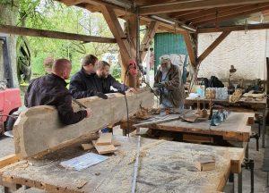 der Bau einer Holzbank - die ersten Schritte